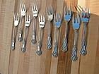 ten D & H CHARLES II fish forks