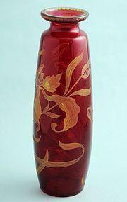 Art Nouveau Intaglio Cut Vase