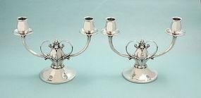 Gorham Silver Danish Design Candelabra