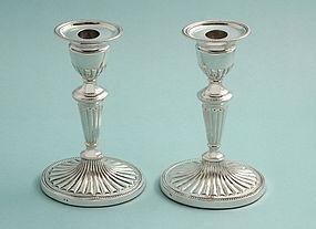Antique Silver Adams Style Candlesticks