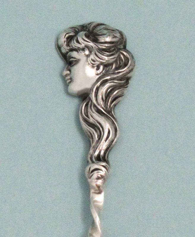 """Art Nouveau Figural """"St. Louis"""" Spoon"""