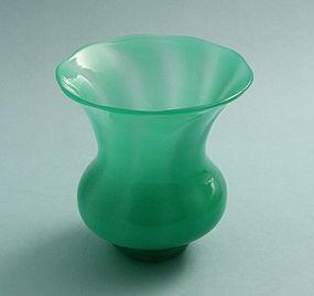 Steuben Green Jade Vase