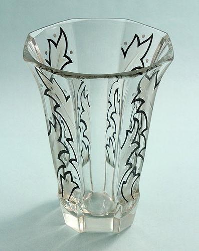 Art Deco Enamelled Vase