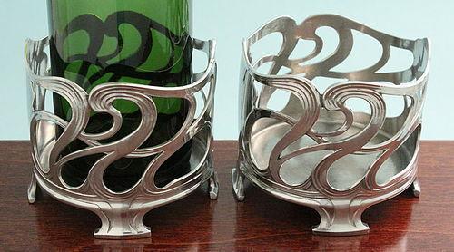 Pair WMF Art Nouveau Bottle Stands