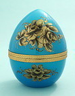 Blue Opaline Egg-Form Box