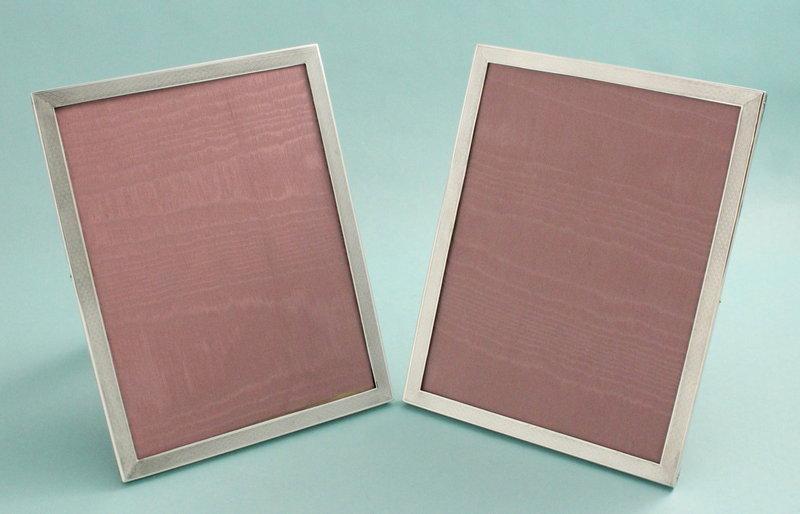 Art Deco Silver Photo Frames, pair