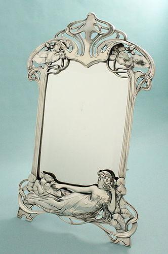 WMF Figural Maiden Art Nouveau Mirror