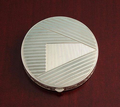 Art Deco Silver Compact