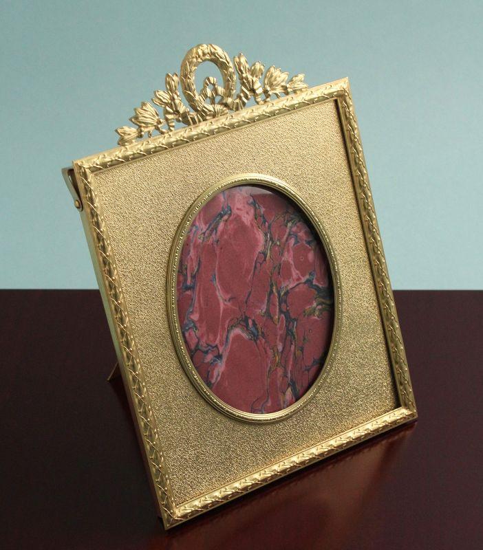 Antique Gilded Bronze Photo Frame