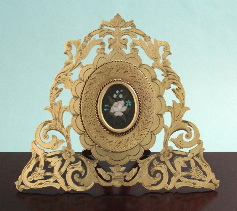 Victorian Pietra Dura Photo Frame