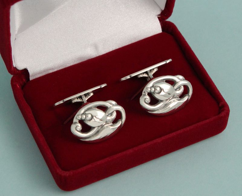 Danish Modernist Silver Cufflinks