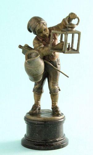 Bronze Boy Lighting Lantern