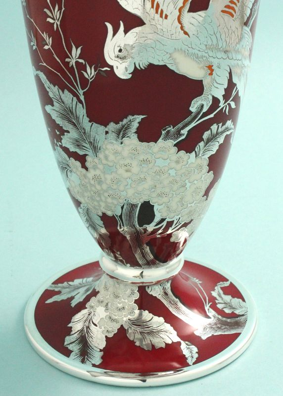 Large Rosenthal Silver Overlay Vase