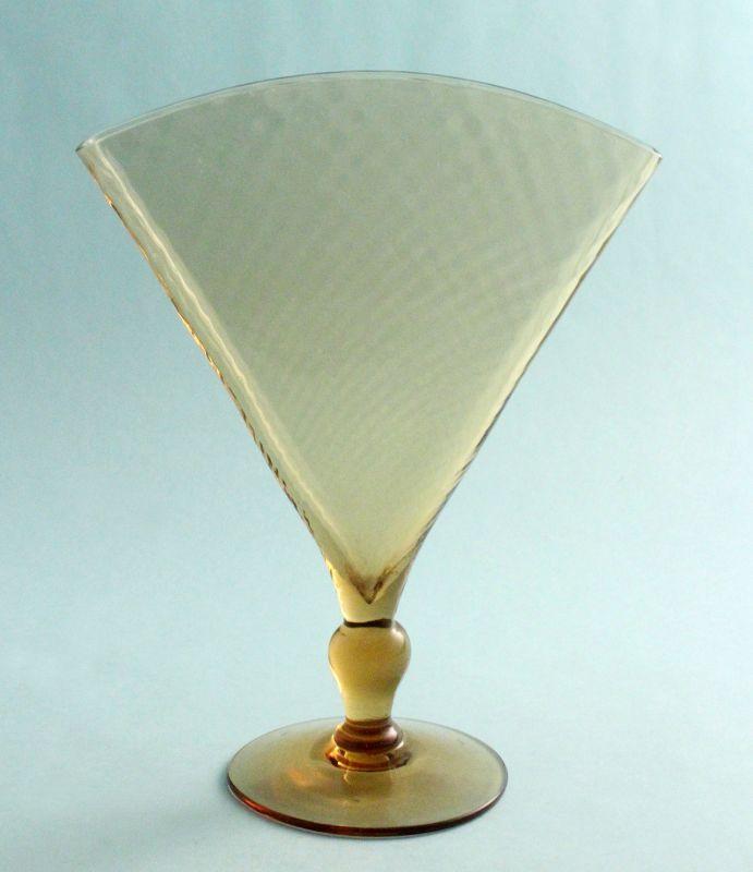 Steuben Amber Optic Fan Vase