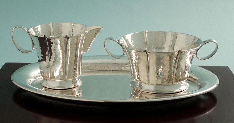 Secession Design Silver Sugar & Creamer Service