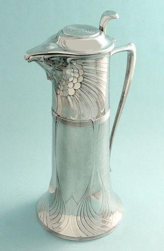 Orivit Art Nouveau Eagle Wine Jug