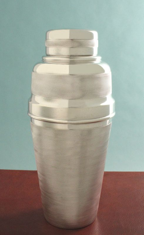 Engine-Turned Cocktail Shaker with Juicer