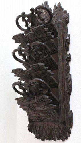 Black Forest Carved Letters Rack