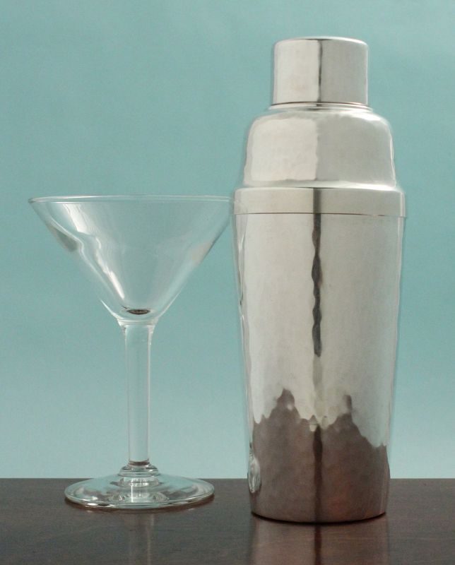 Art Deco Hammered Cocktail Shaker