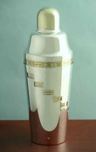 Original Napier Recipe Cocktail Shaker