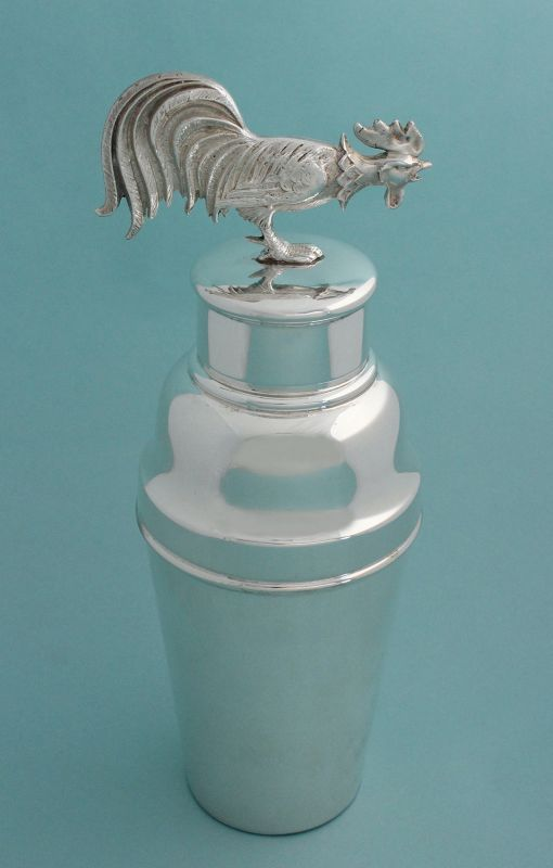 Figural Rooster-Top Cocktail Shaker