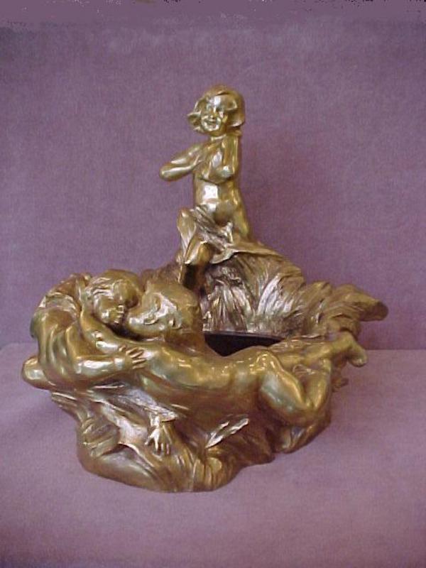 Raoul Larche Gilt Bronze Jardiniere