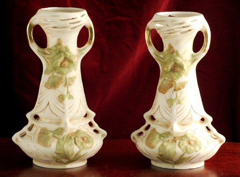 Royal Dux Art Nouveau Vases