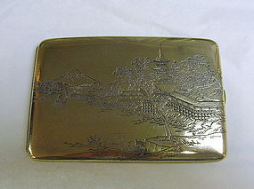 Japanese Silver Mixed Metal Cigarette Card Case