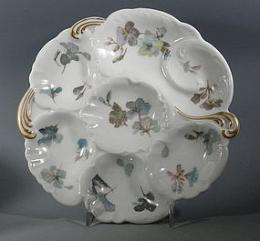 Haviland Limoges French Oyster Plate Light