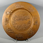 Bronze American Industrial Age Charger Plate River