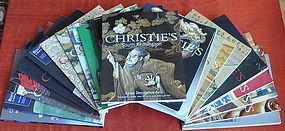 Twenty-two Asian Art Catalogs