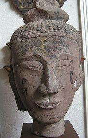 Sandstone Head of Buddha