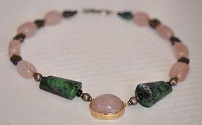 Custom designed Rosequartz Necklace