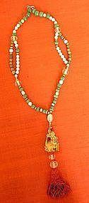 Vintage Aventurine Quartz and Agate Necklace