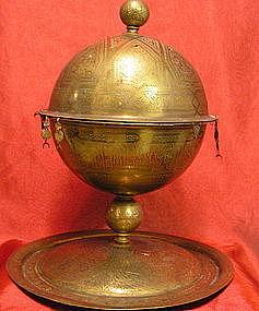 Islamic Brass Brazier