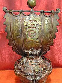 Japanese Bronze Takarabune or Treasure Ship
