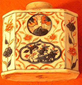 Chinese 18th century Imari Tea Caddy