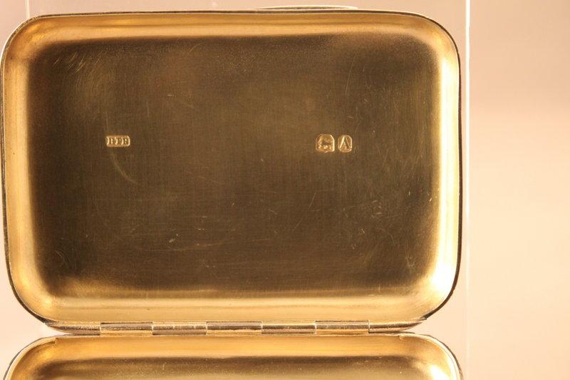 Antique English Victo,Silver Cigarette Case