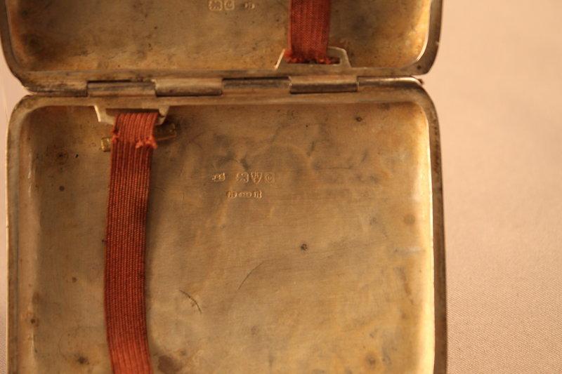 Antique British Sterling Silver Cigarette Case 1841