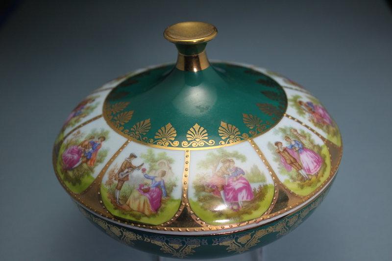 Bavaria Germany Porcelain Jar and Cover.