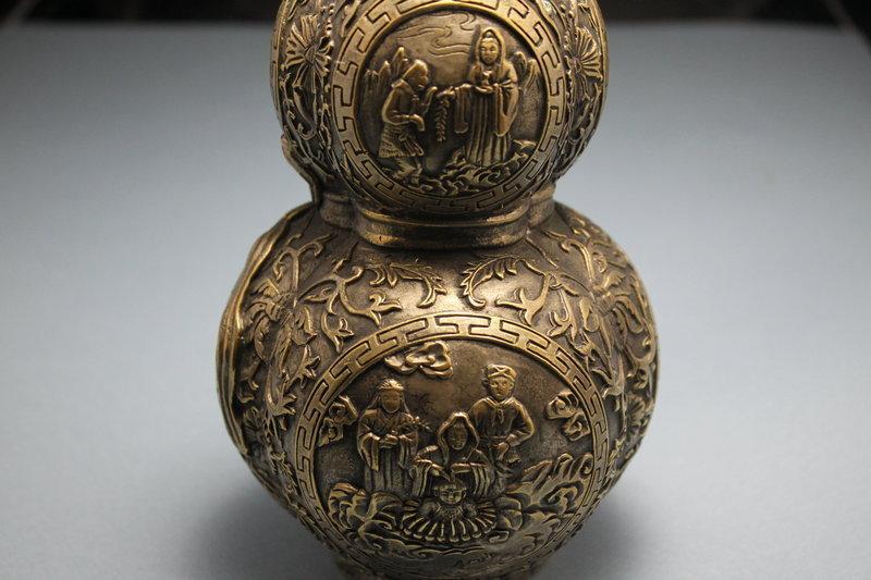 Antique Chinese Bronze Lidded Jar.