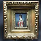 Superb Antique Continental Miniature Portrait Painting. 19th C.