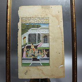 Indo/Persian Miniature Painting, Mogul Dynasty