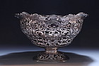 Eastern European silver Repousse Dish,