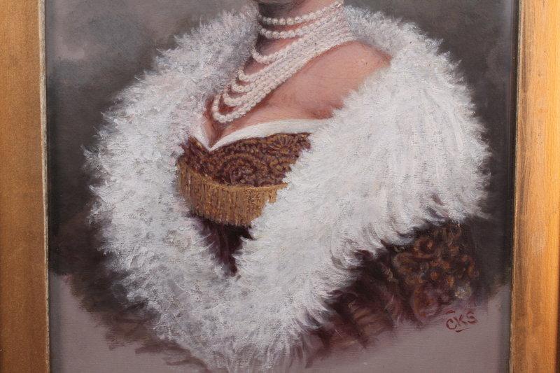 "Royal Portrait: Queen of Wurtemberg, Signed ""CKS"""