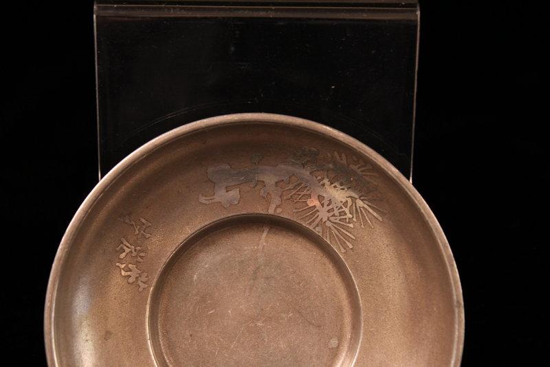 Set of Five Antique Japanese Sake Saucers, 19th c.