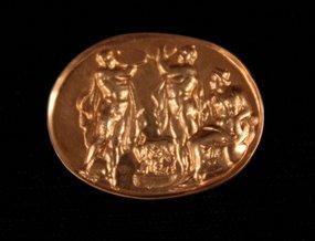 18K Gold impression of Greek Seal.