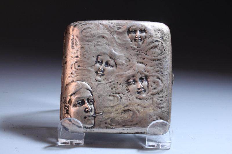 Blackington Sterling Silver Cigarette case, Mid 20th C