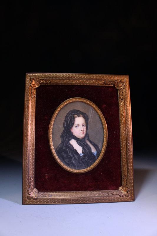 18th C. Miniature Portrait Painting.
