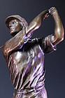 INCREDIBLE LARGE BRONZE FIGURE OF A GOLFER, Earl 20TH c